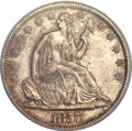 Seated Half Dollars, 1857-S 50C AU53 PCGS. WB-3....