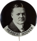 Political:Pinback Buttons (1896-present), Herbert Hoover: Bold Real Photo Badge. ...