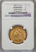 Liberty Eagles: , 1847-O $10 --Scratched--NGC Details. AU. NGC Census: (99/358). PCGSPopulation (83/69). Mintage: 571,500. Numismedia Wsl. P...