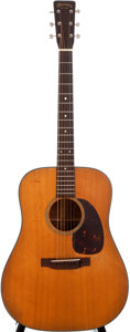 Musical Instruments:Acoustic Guitars, 1954 Martin D-18 Natural Acoustic Guitar, #140100....