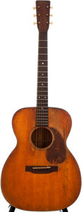 Musical Instruments:Acoustic Guitars, 1944 Martin 000-18 Natural Acoustic Guitar, #90075....