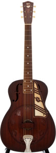 Musical Instruments:Resonator Guitars, 1936 National Red Resonator Guitar, #B2827....