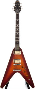Musical Instruments:Electric Guitars, 1982 Gibson The V Sunburst Solid Body Electric Guitar, #82182002....