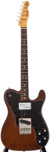 Musical Instruments:Electric Guitars, 1973 Fender Telecaster Custom Mocha Solid Body Electric Guitar, #421474....