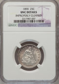 Seated Quarters: , 1890 25C --Improperly Cleaned--NGC Details. Unc. NGC Census:(0/153). PCGS Population (1/161). Mintage: 80,000. Numismedia ...