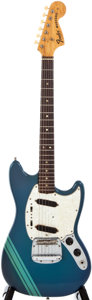 Musical Instruments:Electric Guitars, 1974 Fender Mustang Lake Placid Blue Solid Body Electric Guitar,#510743....