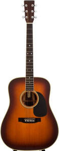 Musical Instruments:Acoustic Guitars, 1975 Martin D-35 Sunburst Acoustic Guitar, #370830....