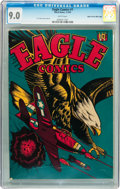Golden Age (1938-1955):War, Eagle Comics #1 Mile High pedigree (Rural Home , 1945) CGC VF/NM9.0 White pages....