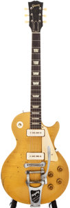 Musical Instruments:Electric Guitars, 1956 Gibson Les Paul Standard Gold Solid Body Electric Guitar, #67140....