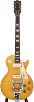 1956 Gibson Les Paul Standard Gold Solid Body Electric Guitar, #6 7140