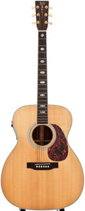 Musical Instruments:Acoustic Guitars, 2003 Martin J-40 Natural Acoustic Electric Guitar, #940143....