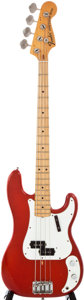 Musical Instruments:Electric Guitars, 1973 Fender Precision Bass Candy Apple Red Electric Bass Guitar, #389515....