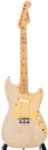 Musical Instruments:Electric Guitars, 1957 Fender Musicmaster Desert Sand Solid Body Electric Guitar, #-20637....