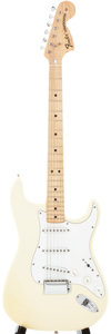 Musical Instruments:Electric Guitars, 1974 Fender Stratocaster White Solid Body Electric Guitar,#574277....