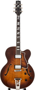 Musical Instruments:Electric Guitars, Modern Heritage H-550 Sunburst Semi-Hollow Body Electric Guitar,#N07603....