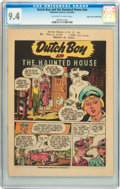 Golden Age (1938-1955):Miscellaneous, Dutch Boy and the Haunted House #nn Mile High pedigree (National Lead Co., no date listed) CGC NM 9.4 Off-white to white pages...