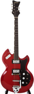 Musical Instruments:Electric Guitars, 1966 Gretsch Astro-Jet Red Solid Body Electric Guitar, #1027....