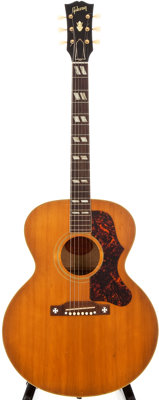 1956 Gibson J-185 Natural Acoustic Guitar, # A25320