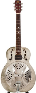 Musical Instruments:Resonator Guitars, Mid 1930s Dobro Resonator Model 35 Nickel Resonator Guitar,#N/A....