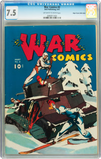 War Comics #2 Mile High pedigree (Dell, 1941) CGC VF- 7.5 Off-white to white pages