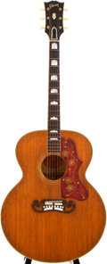 Musical Instruments:Acoustic Guitars, 1957 Gibson J-200 Natural Acoustic Electric Guitar, #A24789....