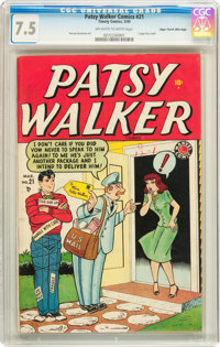 Patsy Walker #21 Mile High pedigree (Atlas, 1949) CGC VF- 7.5 Off-white to white pages