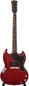 Musical Instruments:Electric Guitars, 1964 Gibson Les Paul Junior Cherry Solid Body Electric Guitar, #84294....