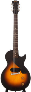 Musical Instruments:Electric Guitars, 1955 Gibson Les Paul Junior Sunburst Solid Body Electric Guitar,#510555....