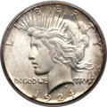 Peace Dollars, 1924-S $1 MS65 PCGS. CAC....