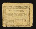 Colonial Notes:North Carolina, North Carolina August 8, 1778 $5 The Rising States Fine-Very Fine.....