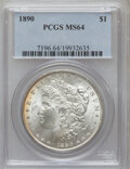 Morgan Dollars: , 1890 $1 MS64 PCGS. PCGS Population (3243/374). NGC Census:(3817/273). Mintage: 16,802,590. Numismedia Wsl. Price for probl...
