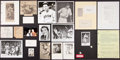 Baseball Collectibles:Others, Baseball Notables Signed and Unsigned Cuts and Photographs Lot....