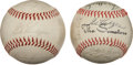 Baseball Collectibles:Balls, 1960's Washington Senators Team Signed Baseballs Lot of 2....