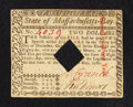Colonial Notes:Massachusetts, Massachusetts May 5, 1780 $2 Extremely Fine.. ...