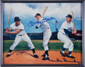Baseball Collectibles:Photos, Willie Mays, Mickey Mantle and Duke Snider Multi Signed Print....