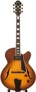 Musical Instruments:Electric Guitars, 1985 Fender D'Aquisto Elite Sunburst Semi-Hollow Body ElectricGuitar, #E524474....