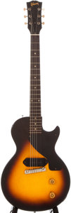 Musical Instruments:Electric Guitars, 1955 Gibson Les Paul Junior Sunburst Solid Body Electric Guitar,#510116....