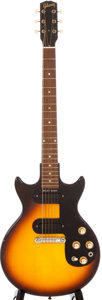 Musical Instruments:Electric Guitars, 1964 Gibson Melody Maker D Sunburst Solid Body Electric Guitar,#208021....