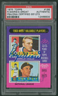 "Autographs:Sports Cards, 1975 Topps ""1960 MVPs"" Roger Maris & Dick Groat #198 PSA/DNAAuthentic - Signed by Both...."