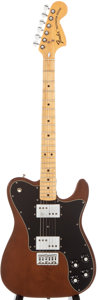 Musical Instruments:Electric Guitars, Circa 1973 Fender Telecaster Deluxe Mocha Solid Body Electric Guitar, #382479....