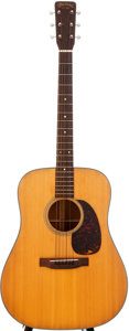 Musical Instruments:Acoustic Guitars, 1963 Martin D-18 Natural Acoustic Guitar, #187955....