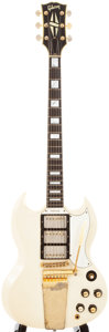 Musical Instruments:Electric Guitars, 1966/1970 Gibson SG Custom White Solid Body Electric Guitar, #900666....