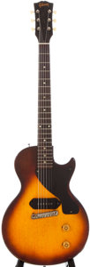 Musical Instruments:Electric Guitars, 1955 Gibson Les Paul Junior Sunburst Solid Body Electric Guitar, #59649....