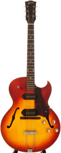 Musical Instruments:Electric Guitars, 1960 Gibson ES-125 Cherryburst Archtop Electric Guitar, #82767....