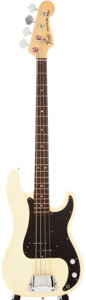 Musical Instruments:Electric Guitars, 1978 Fender Precision Bass White Electric Bass Guitar, #S862755....