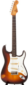 Musical Instruments:Electric Guitars, 1959 Fender Stratocaster Sunburst Solid Body Electric Guitar, #39423....