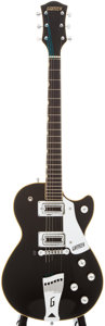 Musical Instruments:Electric Guitars, 1972 Gretsch Roc Jet Black Solid Body Electric Guitar, #82187....