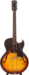Musical Instruments:Electric Guitars, 1956 Gibson ES-225T Sunburst Semi-Hollow Body Electric Guitar,#V6313....