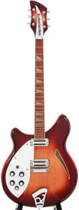 Musical Instruments:Electric Guitars, 1993 Rickenbacker 360 Left-Handed Fireglo Semi-Hollow Body Electric Guitar, #E67875....