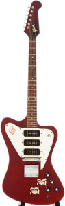 Musical Instruments:Electric Guitars, 1967 Gibson Firebird III Sparkling Burgundy Solid Body ElectricGuitar, #004958....